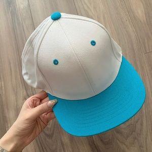 Lids White & Blue SnapBack Cap Hat